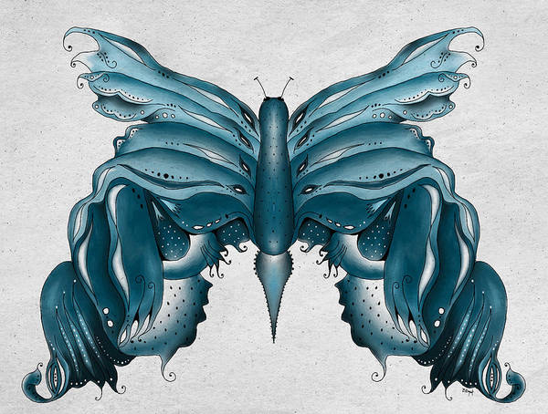 Madam Butterfly Art Print featuring the painting Madam Butterfly by Brenda Bryant
