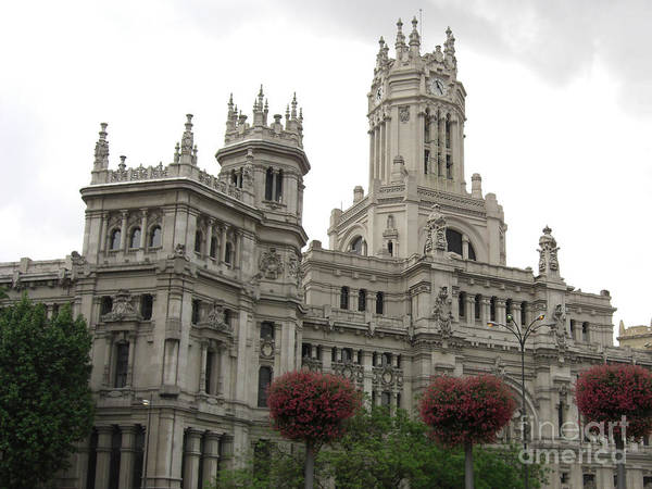 Madrid Art Print featuring the photograph Madrid City Hall by Deborah Smolinske