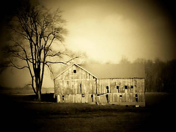 Barn Art Print featuring the photograph Manchester Barn by Michael L Kimble