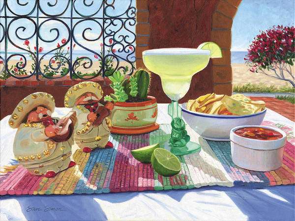 Cocktail Art Print featuring the painting Mariachi Margarita by Steve Simon