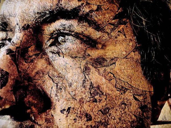 Face Art Print featuring the digital art Michelangello by Beto Machado