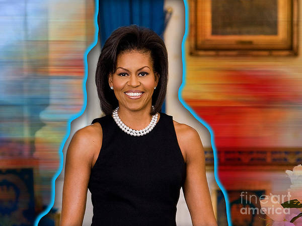 Michelle Obama Photographs Art Print featuring the mixed media Michelle Obama by Marvin Blaine