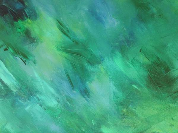 Green. Blue Art Print featuring the painting Mind's Eye by Kristin Lane