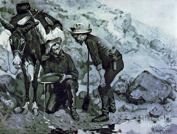 U.s.pd-art: Reproduction Art Print featuring the painting Miners Prospecting by Pg Reproductions