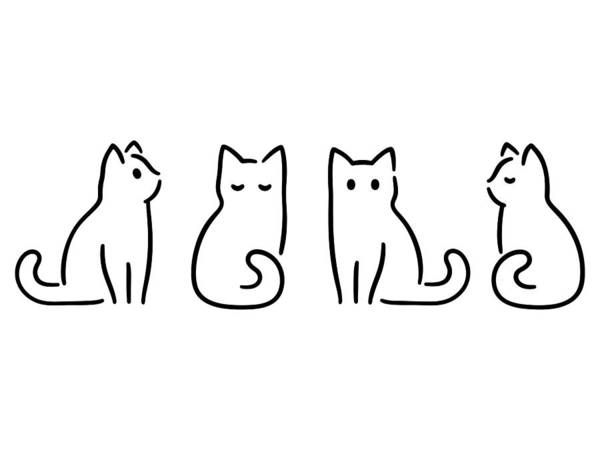Pets Art Print featuring the drawing Minimal Cat Drawing by Sudowoodo