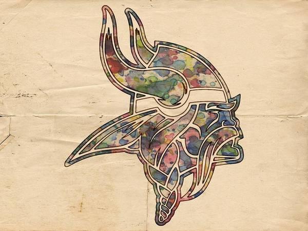 Minnesota Vikings Poster Vintage Art Print