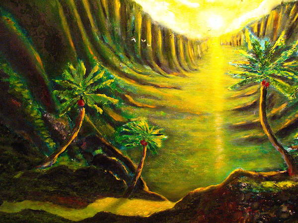 Hawaii Art Print featuring the painting Moment Of Conception by Frank B Shaner