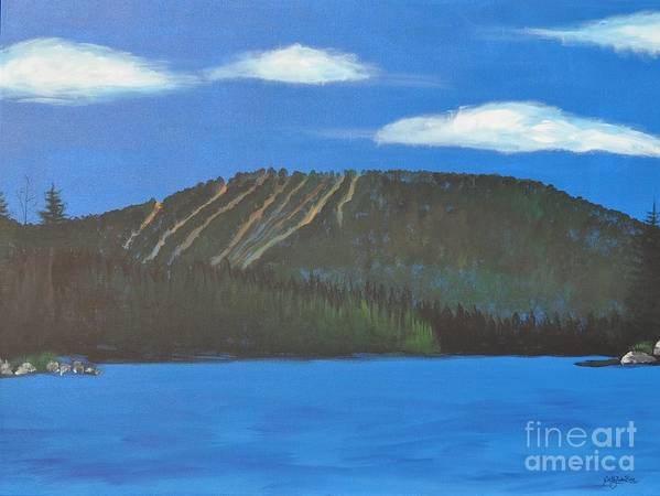 Mount Snow Art Print featuring the painting Mount Snow by Sally Rice