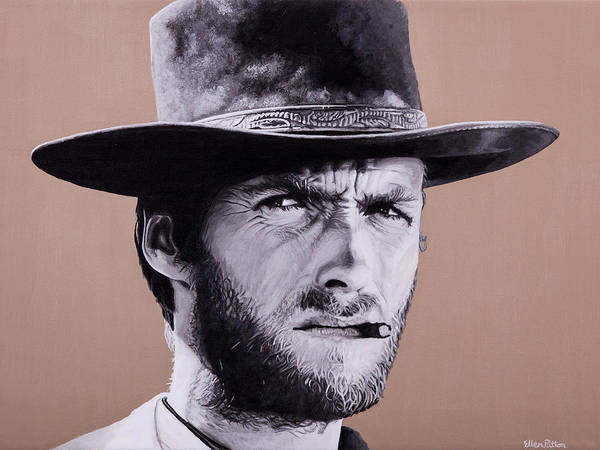 Art Print featuring the painting Mr. Eastwood by Ellen Patton