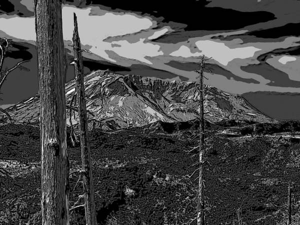 St. Helens Art Print featuring the photograph Mt St Helens by David Gleeson