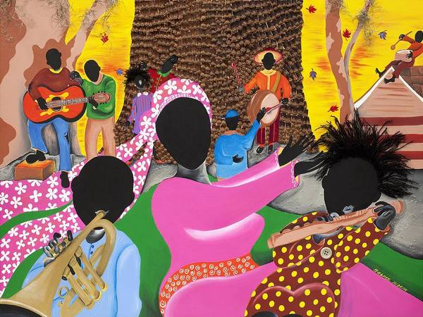 Gullah Art Print featuring the painting Music's Teachers by Patricia Sabree