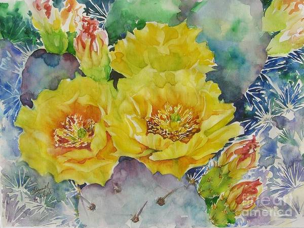 Cactus Art Print featuring the painting My Delight by Summer Celeste