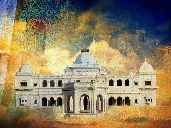 Pakistan Art Print featuring the painting Nawab's Palace by Catf