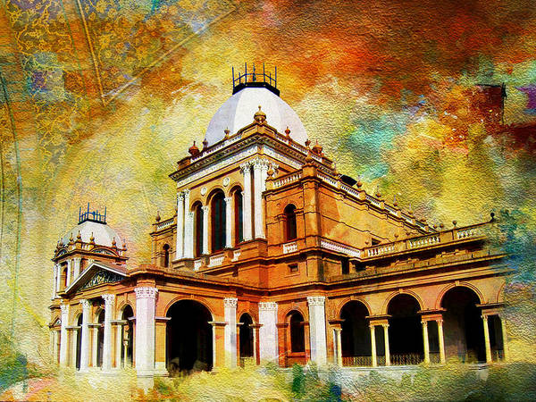 Pakistan Art Print featuring the painting Noor Mahal by Catf