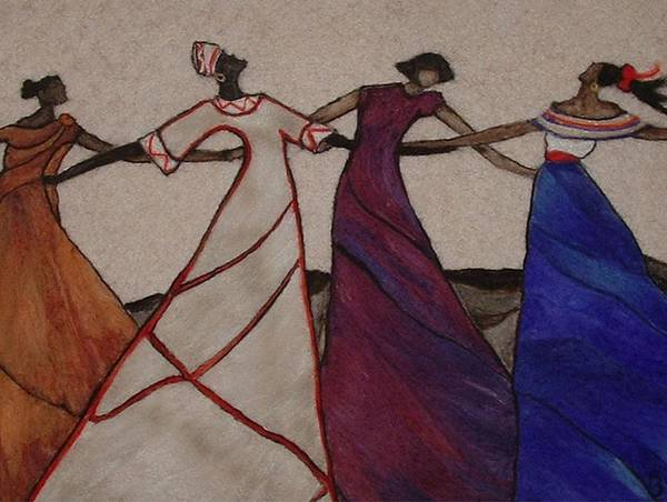 Dancing Art Print featuring the tapestry - textile Obama Nation by Bonnie Nash