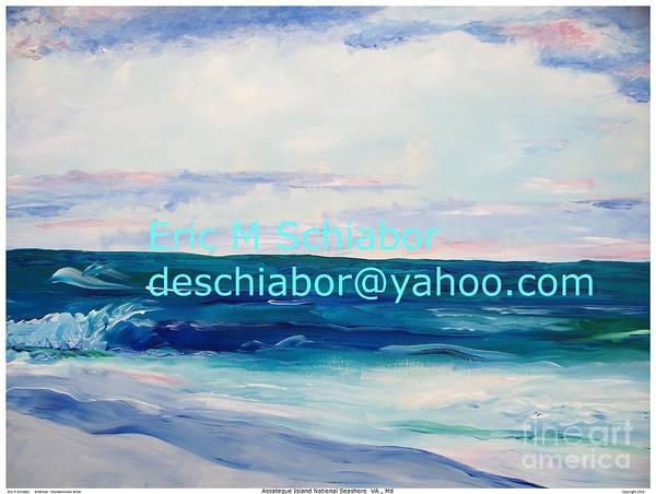 Floral Art Print featuring the painting Ocean Assateague Virginia by Eric Schiabor