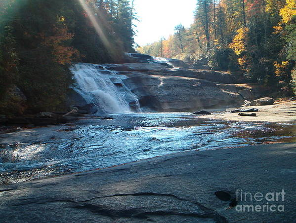 Triple Falls Art Print featuring the photograph On The Fall Line by Terry Hunt