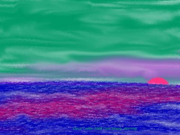 Morning Art Print featuring the digital art One Simple Morning by Dr Loifer Vladimir