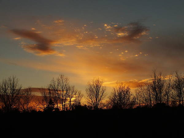 New England Art Print featuring the photograph Orange Sunset by Gene Cyr