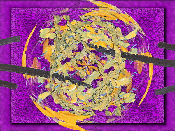 Abstract Art Print featuring the digital art Outside The Box by Tim Allen