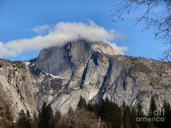 Landscape Art Print featuring the photograph Peek-a-boo Half Dome by Audrey Van Tassell