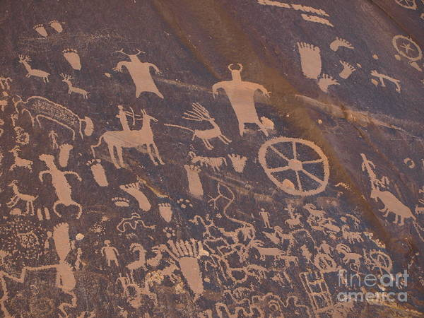 Pictograph Art Print featuring the photograph Pictographs 1 by Jacklyn Duryea Fraizer