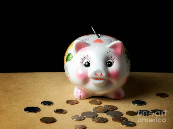 Money Print featuring the photograph Piggy Bank by Sinisa Botas