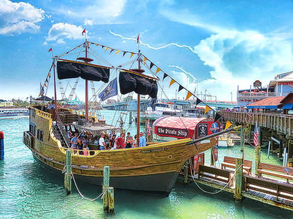 Pirate Ship Art Print featuring the photograph Pirate Ship by Stephen Warren