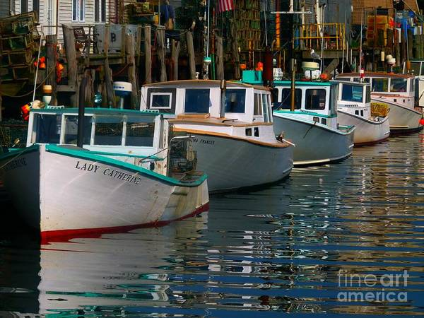 Portland Art Print featuring the photograph Portland Lobster Row by Christine Stack