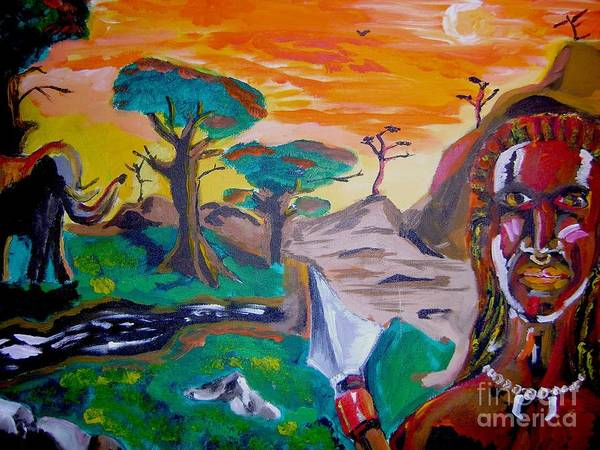 Fantasy. Art Print featuring the painting Queens Destiny by Sidney Holmes