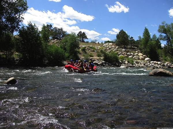 Transportation Art Print featuring the photograph Rafting The River by Steven Parker