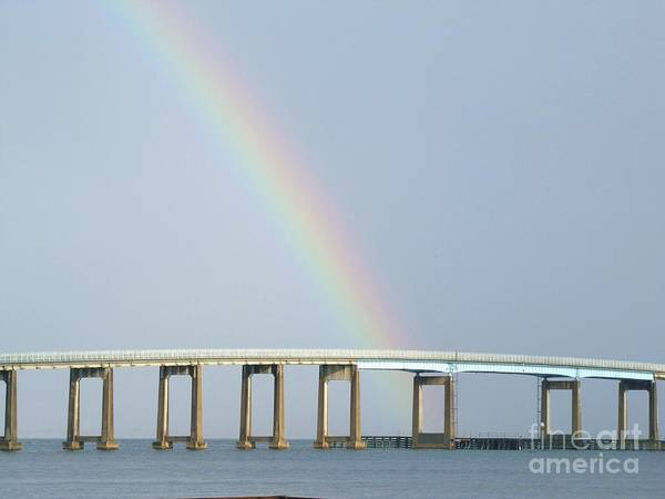 Rainbow Art Print featuring the photograph Rainbow On Top Of The Bridge by Michelle Powell