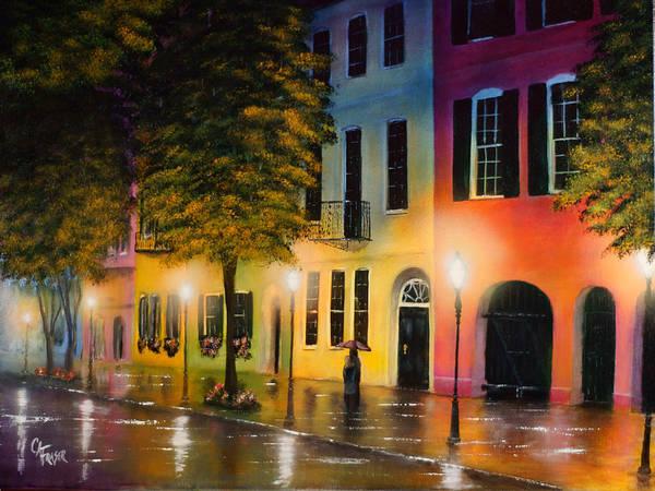 6a6262c2e79 rainbow Row Art Print featuring the painting Rainbow Row by Chris Fraser