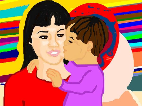 Family Art Print featuring the painting Raising Son by Pharris Art