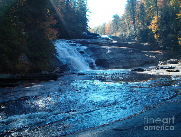 Triple Falls Art Print featuring the photograph Rapid Water by Terry Hunt
