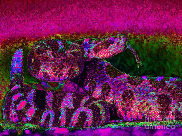 Rattlesnake Art Print featuring the photograph Rattlesnake 20130204m80 by Wingsdomain Art and Photography