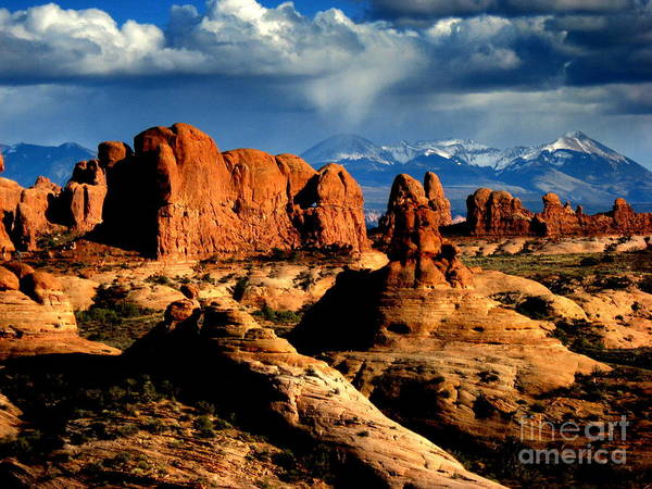 Mountains Art Print featuring the photograph Red Rocks by Irina Hays