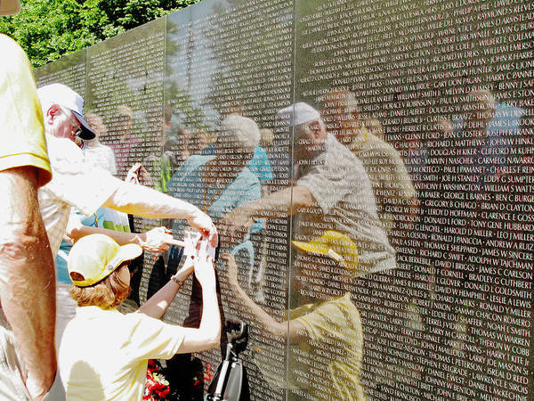 Vietnam Art Print featuring the photograph Reflections And Rememberance by Barbara McDevitt