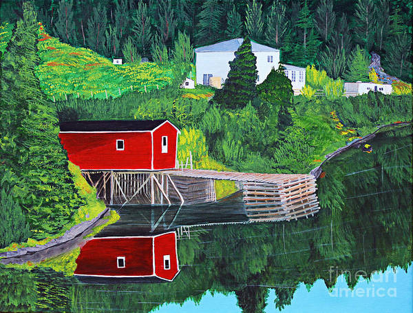 Reflections Art Print featuring the painting Reflections by Barbara Griffin