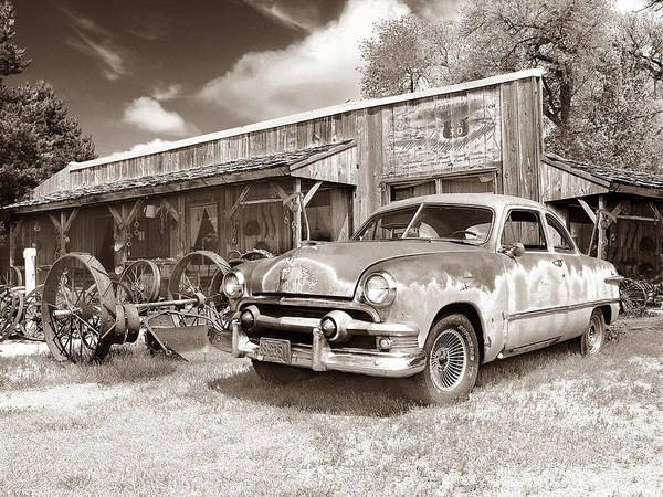 Antiques Art Print featuring the photograph Roadside Antiques by John Anderson