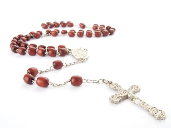 Rosary Print featuring the photograph Rosary Beads by Jose Elias - Sofia Pereira