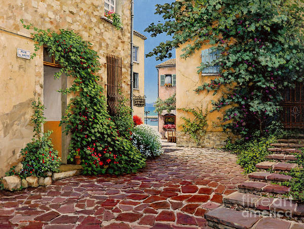 French Village Art Print featuring the painting Rue Anette by Michael Swanson