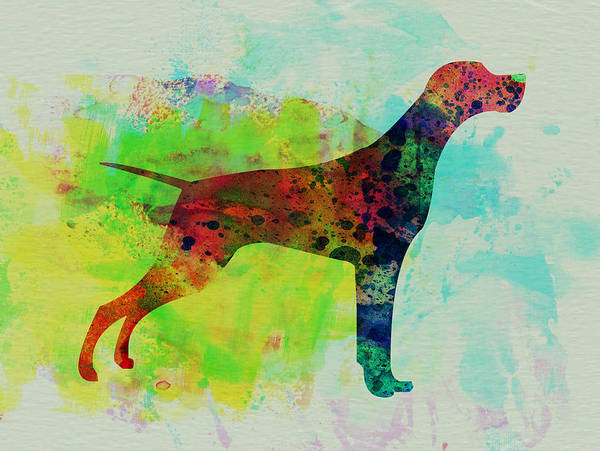 Setter Pointer Print featuring the painting Setter Pointer Watercolor by Naxart Studio