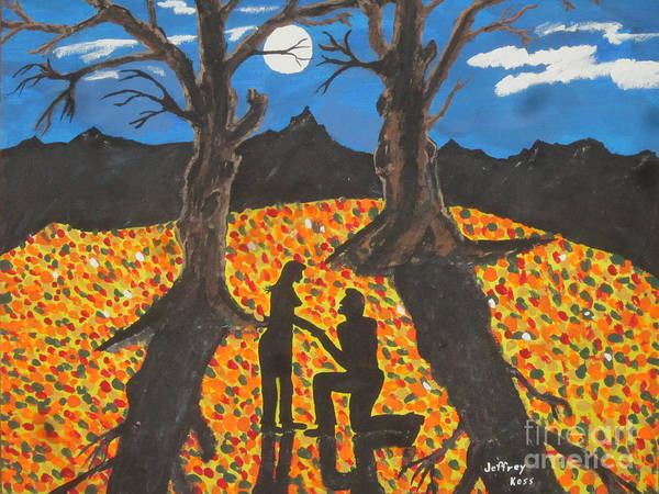 Art Print featuring the painting She Said Yes by Jeffrey Koss