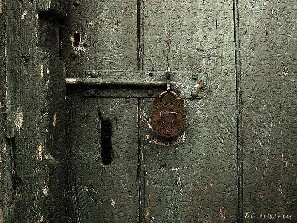 Door Art Print featuring the painting Shed Of Secrets by RC DeWinter