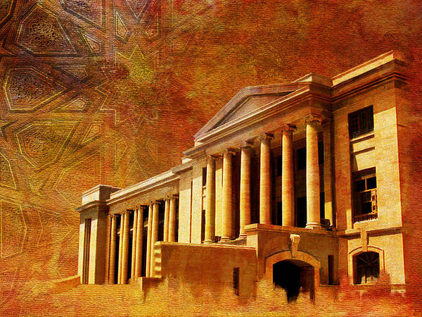 Pakistan Print featuring the painting Sindh High Court by Catf