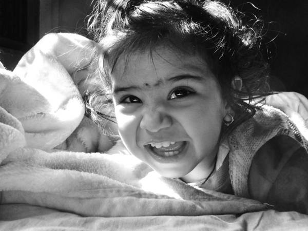 Children Print featuring the photograph Smile by Makarand Purohit