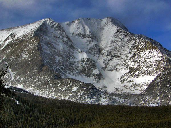 Longs Art Print featuring the photograph Snow Peaks by David Kehrli