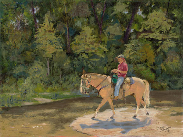 Horses Print featuring the painting Southern Light by Tommy Thompson