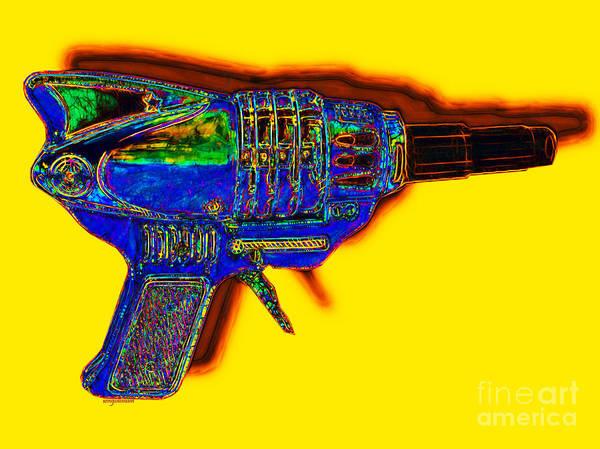 Spacegun Art Print featuring the photograph Spacegun 20130115v2 by Wingsdomain Art and Photography